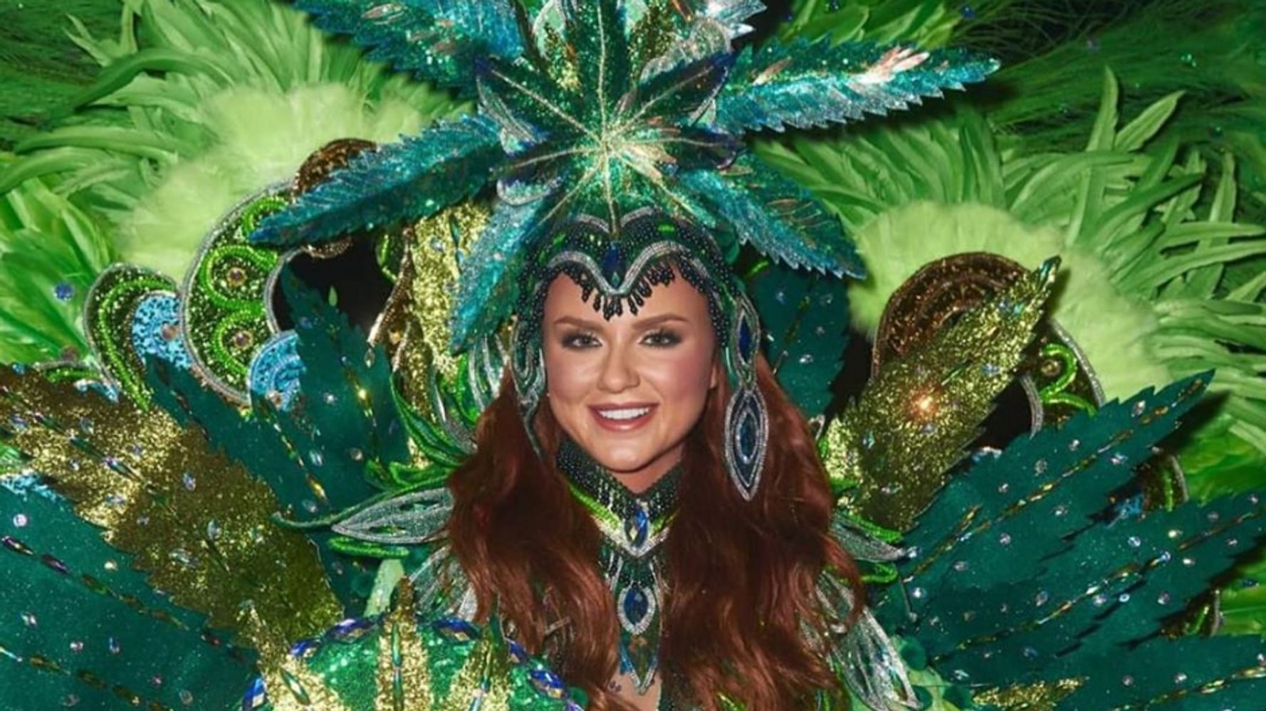 Miss Universe Canada Dressed Up As Legal Cannabis, Because Of Course