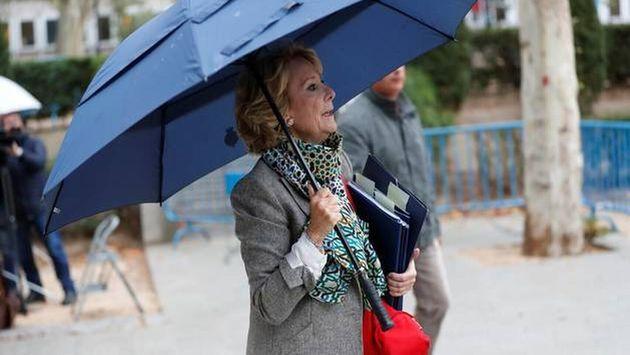 Esperanza Aguirre, a su llegada a la Audiencia Nacional el pasado