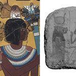 이집트 벽화에서만 보였던 고깔 모양 머리 장식의 실체가