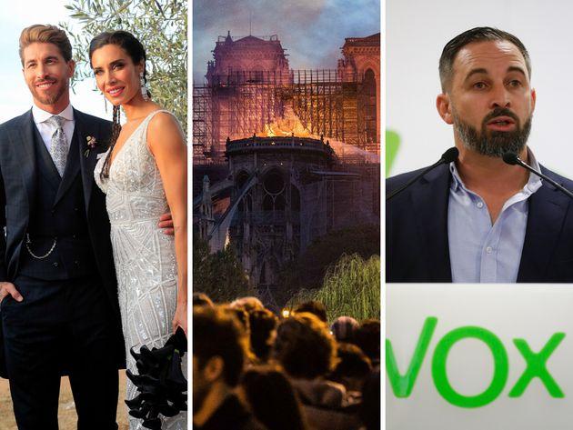 La boda de Sergio Ramos, el incendio de Notre Dame y Santiago Abascal, entre lo más buscado en Google...
