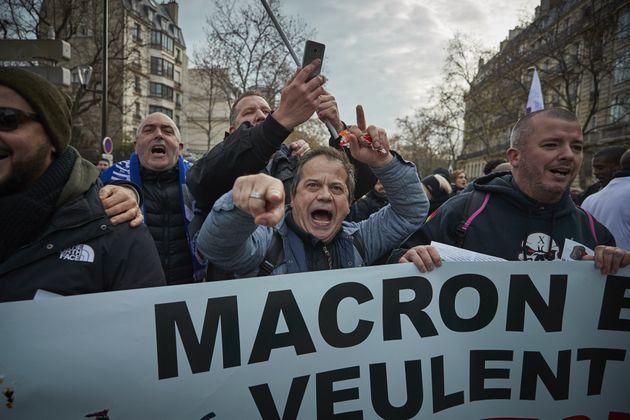 Manifestación contra la reforma de las pensiones de
