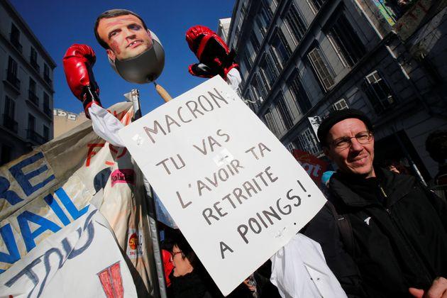 Protestas contra la reforma de las pensiones en