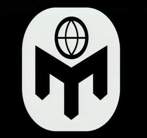 Mensa Society logo, white graphic element on