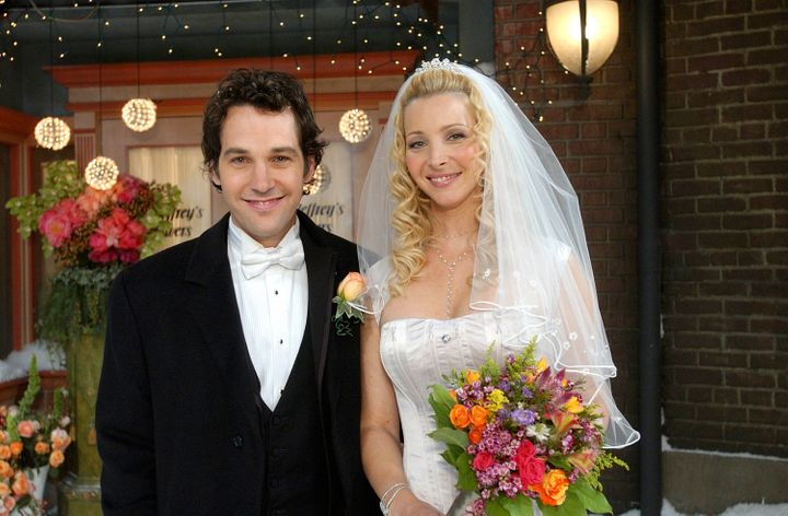 """Mike Hannigan (Paul Rudd) and Phoebe Buffay (Lisa Kudrow) tied the knot in the tenth and final season of """"Friends."""""""
