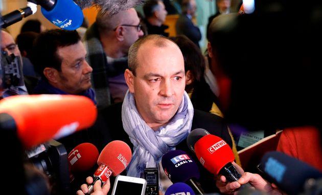 Laurent Berger s'est exprimé juste après les annonces du premier ministres dans les allées...