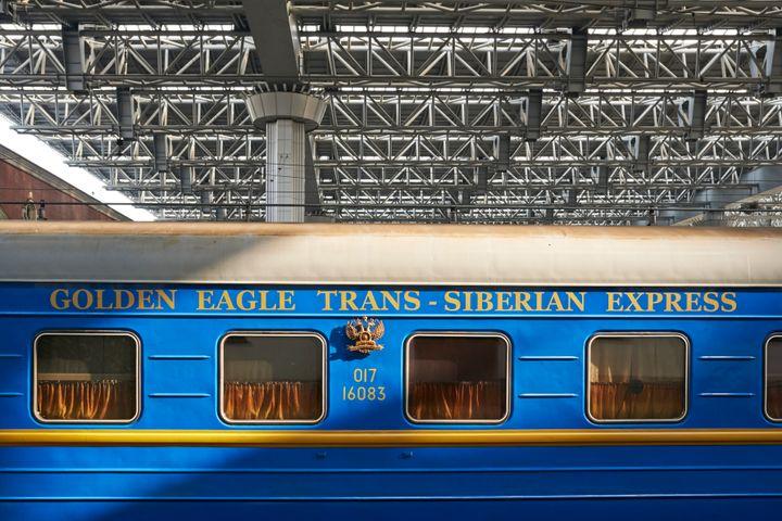 Sleeping rail car; long distance train