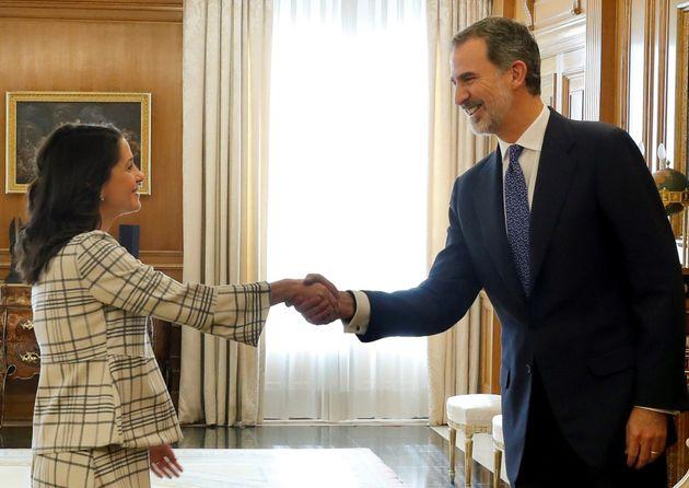 El rey Felipe VI recibe a la portavoz de Ciudadanos Inés