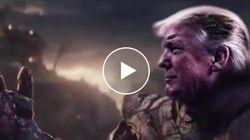 Trump si trasforma nel super-cattivo degli Avengers e spazza via Nancy Pelosi