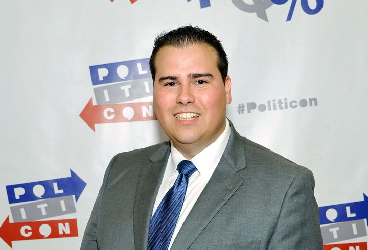 Omar Navarro at Politicon in Pasadena, California, on July 29, 2017.