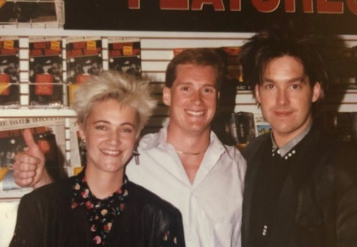 From left to right, Marie Fredriksson, Dean Cushman and Per Gessle. Cushman helped launch Roxette's career in the United Stat