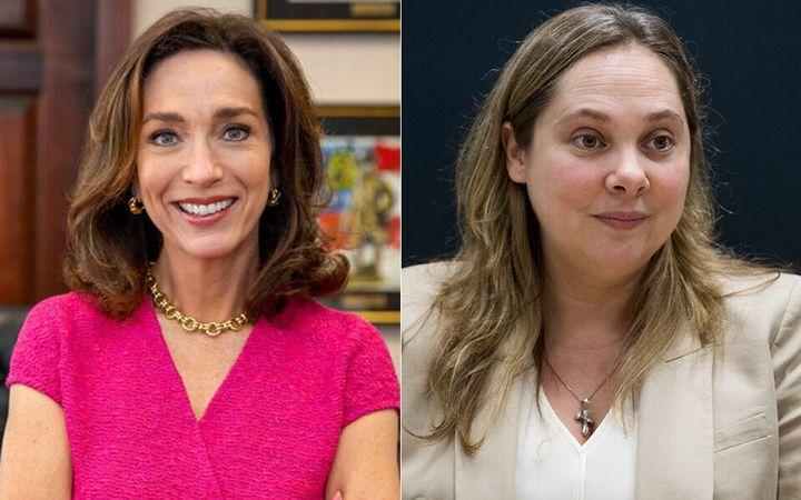 Georgia Senate Democratic candidates Teresa Tomlinson (left) and Sarah Riggs Amico