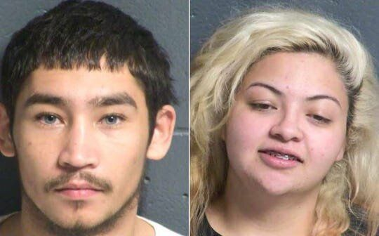 Angelo Rey Espinosa and Lorena Ariana Marin are accused of robbing a Subway sandwich shop in Las Cruces, New Mexico, on Dec.