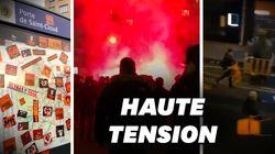 Les images des violentes échauffourées entre fans et policiers avant Paris -