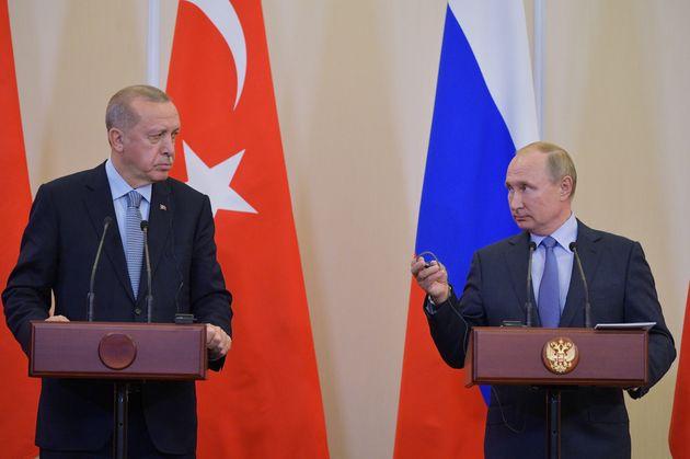 Επικοινωνία Πούτιν-Ερντογάν μετά το νομοσχέδιο για επιβολή κυρώσεων στην