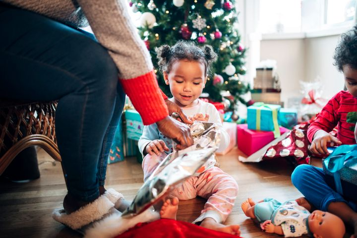 Many families set gift-giving guidelines to stay within a budget and keep their focus on the non-commercial aspects of the holidays.