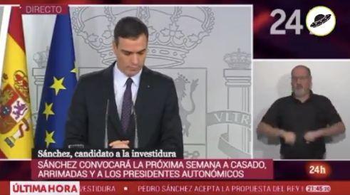 Pedro Sánchez en rueda de