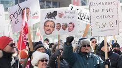 Les retraités des quotidiens de GCM manifestent au siège de Power