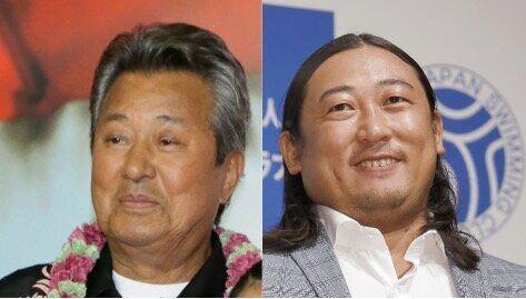 梅宮辰夫さん(左)と秋山竜次さん(右)