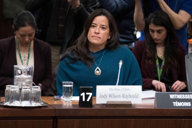 Jody Wilson-Raybould at the SNC-LAVALIN affair on Parliament Hill in Ottawa on Feb. 27,