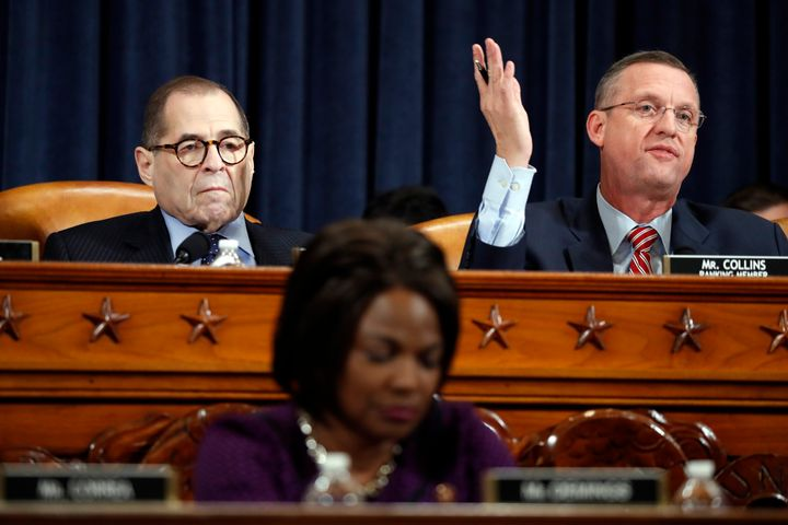 House Judiciary Committee ranking member Doug Collins (R-Ga.), right, gives his opening statement as Chairman Jerry Nadler (D