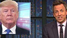 'Schieben Wie Ein Verrückter': Seth Meyers zerreißt Trump 's ' Geistesgestörten' - Rallye