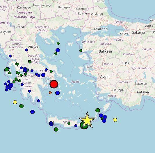 Σεισμός 4,8 βαθμών της κλίμακας Ρίχτερ ανοιχτά του