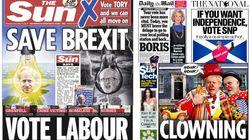 La prensa británica se moja: así pide el voto sin rodeos en sus