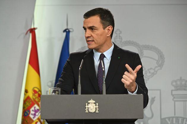 El líder del PSOE y presidente del Gobierno en funciones, Pedro