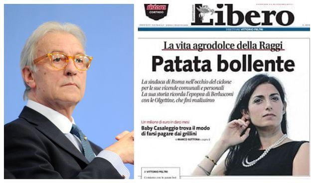 Vittorio Feltri, la prima pagina di