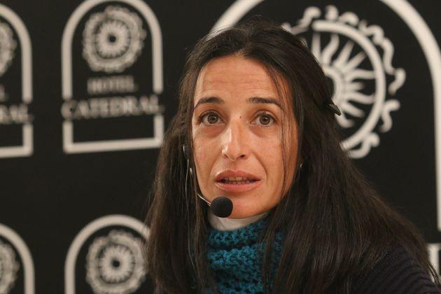 Patricia Ramírez, la madre de Gabriel, durante una rueda de prensa por el aniversario del asesinato...