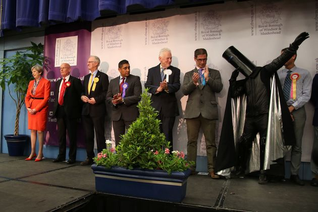 Lord Buckethead and other candidates – including Theresa May – at the Maidenhead election...