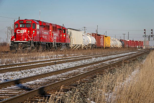 A CP Rail freight train is seen here in Toronto on Jan. 14, 2015.The TSB says 33 oil tank cars...