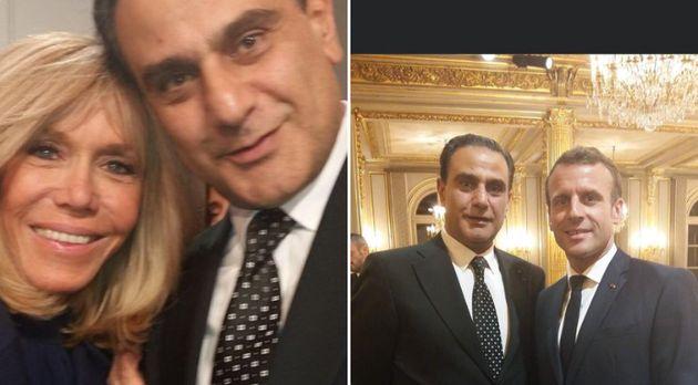 Elie Hatem à l'Elysée, en présence d'Emmanuel et Brigitte