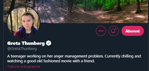 Bio Twitter Greta
