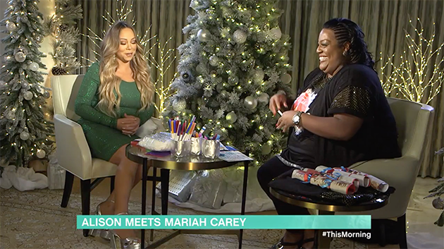 Mariah Carey and Alison Hammond sat down for a chat on This