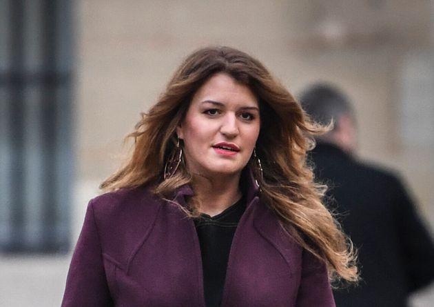 Marlène Schiappa, ici arrivant à Matignon à Paris le 25 novembre