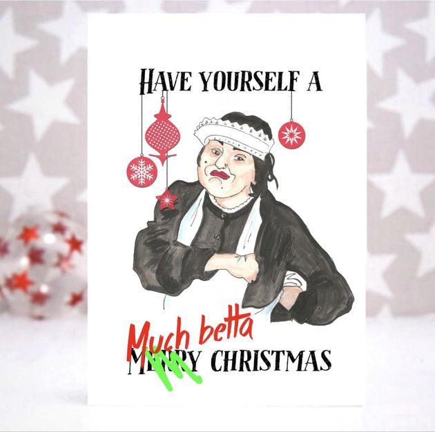 Baga Chipz Christmas Card, Etsy, £4.07