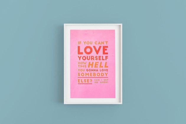 RuPaul A3 'Love Yourself' Poster, Etsy, £20