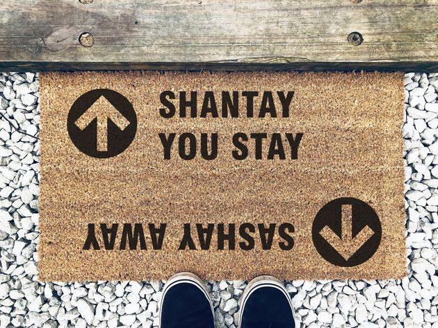 RuPaul's Drag Race Sashay Away Shantay You Stay Doormat, Etsy, £29.29