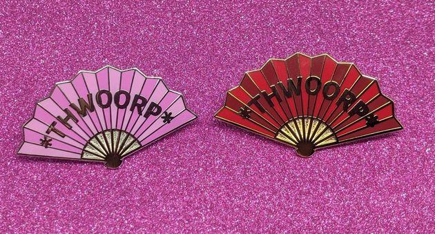 Katya Zamolodchikova Fan Thwoorp Pin, Etsy, £6