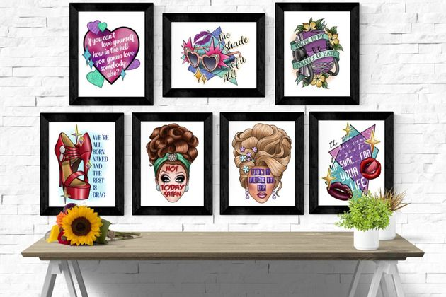 Drag Queen Quotes Art Prints, Etsy, £6