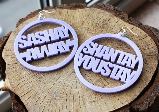 RuPaul Shantay You stay, Sashay Away Earrings, Etsy, £15
