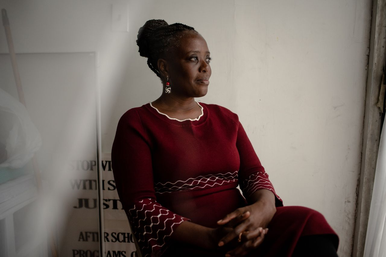 Cordell Cleare poses for a portrait in her office in Harlem.