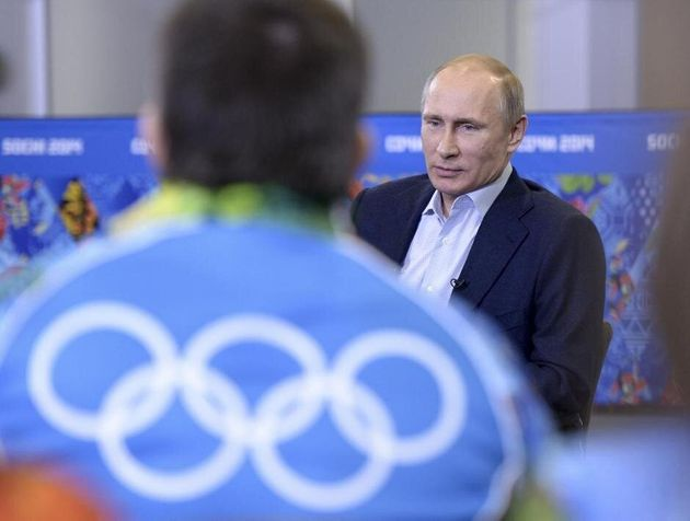 Putin, en uno de sus actos durante los Juegos de Invierno de Sochi
