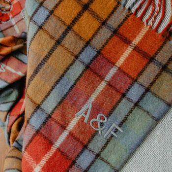 Personalised Recycled Wool Blanket in Buchanan Antique, The Tartan Blanket Co, via Not On The High Street