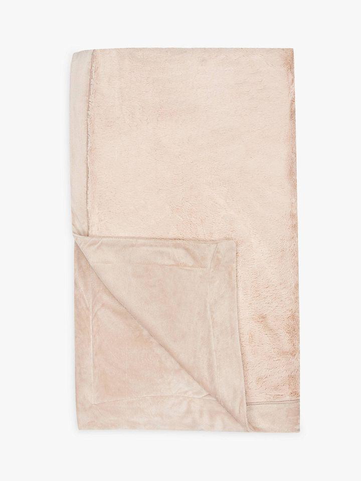 John Lewis & Partners Luxury Plush Fleece Throw, John Lewis