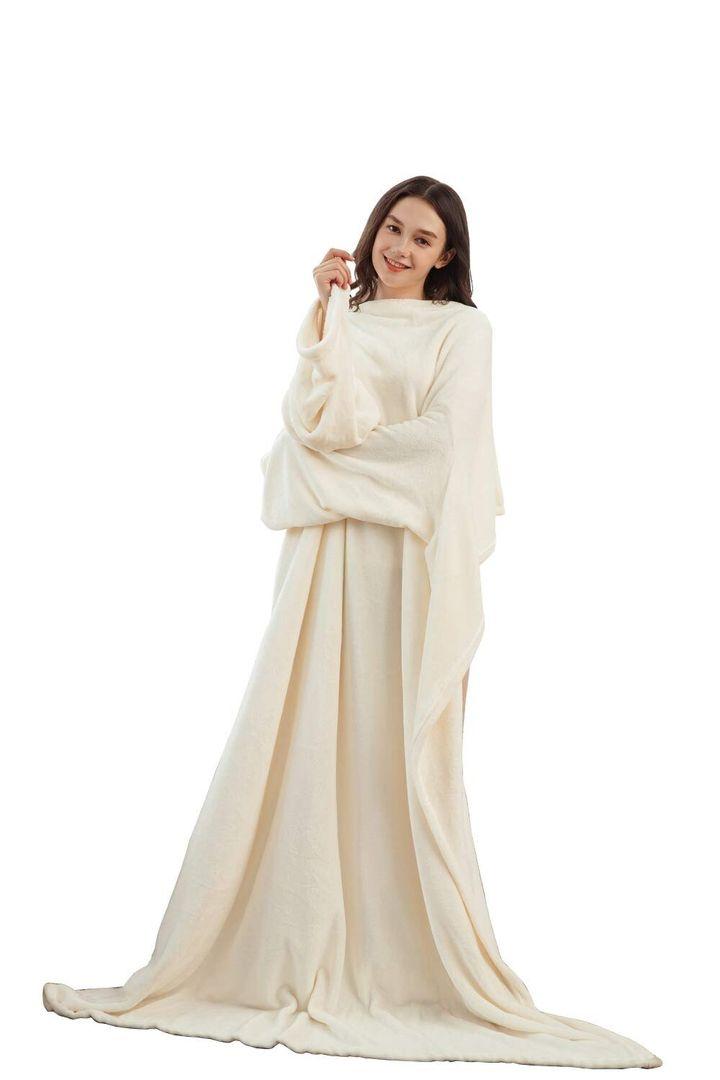 Winthome Long Fleece Blanket With Sleeves, Amazon