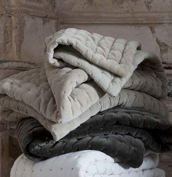 Quilted Velvet Throw, Idyll Home, via Not On The High Street
