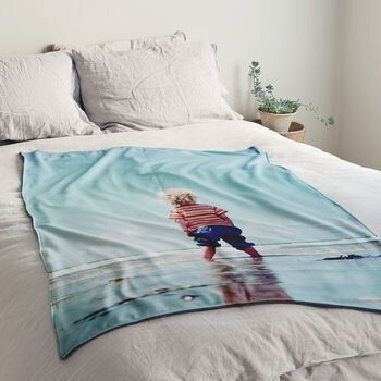 Personalized Luxury Photo Blanket, The Drifting Bear Co, via Not On The High Street