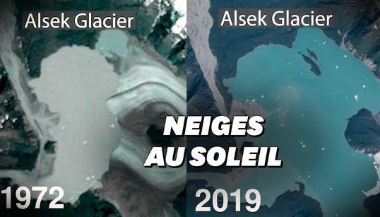 Les images frappantes de 50 ans de fonte des glaciers en